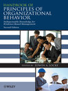 Handbook of Principles of Organizational Behavior (eBook): Indispensable Knowledge for Evidence-Based Management