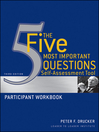 The Five Most Important Questions Self Assessment Tool (eBook): Participant Workbook
