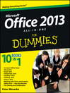 Office 2013 All-In-One For Dummies (eBook)