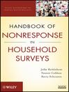 Handbook of Nonresponse in Household Surveys (eBook)