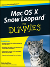 Mac OS X Snow Leopard For Dummies (eBook)
