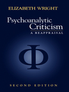 Psychoanalytic Criticism (eBook): A Reappraisal