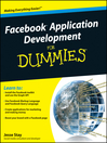 Facebook Application Development For Dummies (eBook)