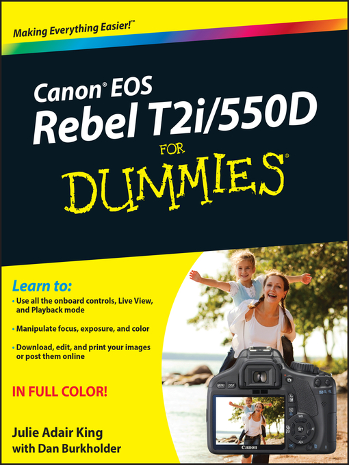 Canon EOS Rebel T2i/550D For Dummies (eBook)