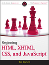 Beginning HTML, XHTML, CSS, and JavaScript (eBook)