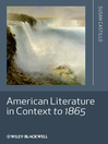 American Literature in Context to 1865 (eBook)