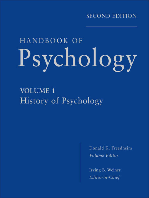 Handbook of Psychology, History of Psychology (eBook)