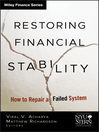 Restoring Financial Stability (eBook): How to Repair a Failed System