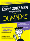 Excel 2007 VBA Programming For Dummies (eBook)