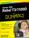 Canon EOS Rebel T3/1100D For Dummies (eBook)