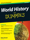 World History For Dummies (eBook)