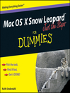 Mac OS X Snow Leopard Just the Steps For Dummies (eBook)