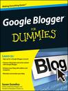 Google Blogger For Dummies® (eBook)
