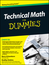 Technical Math For Dummies (eBook)