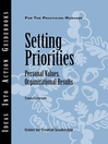 Setting Priorities (eBook): Personal Values, Organizational Results