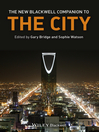 The New Blackwell Companion to the City (eBook)