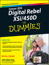 Canon EOS Digital Rebel XSi/450D For Dummies (eBook)