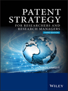 Patent Strategy for Researchers and Research Managers (eBook)