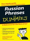 Russian Phrases For Dummies (eBook)