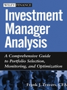 Investment Manager Analysis (eBook): A Comprehensive Guide to Portfolio Selection, Monitoring and Optimization