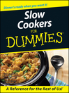 Slow Cookers For Dummies (eBook)