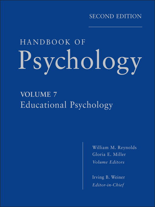 Handbook of Psychology, Educational Psychology (eBook)