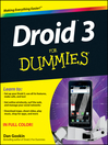 Droid 3 For Dummies (eBook)