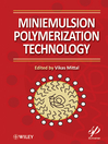 Miniemulsion Polymerization Technology (eBook)