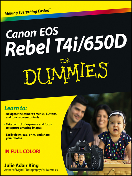 Canon EOS Rebel T4i/650D For Dummies (eBook)