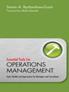 Essential Tools for Operations Management (eBook): Tools, Models and Approaches for Managers and Consultants