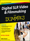 Digital SLR Video and Filmmaking For Dummies (eBook)