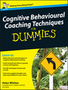 Cognitive Behavioural Coaching Techniques For Dummies (eBook)