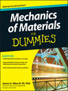 Mechanics of Materials For Dummies (eBook)