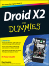 Droid X2 For Dummies (eBook)