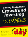 Getting Started with Crowdfund Investing In a Day For Dummies (eBook)