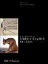A Handbook of Middle English Studies (eBook)