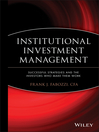 Institutional Investment Management (eBook): Equity and Bond Portfolio Strategies and Applications