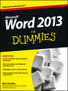 Word 2013 For Dummies (eBook)