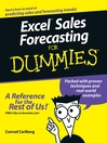 Excel Sales Forecasting For Dummies (eBook)