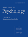 Handbook of Psychology, Assessment Psychology (eBook)