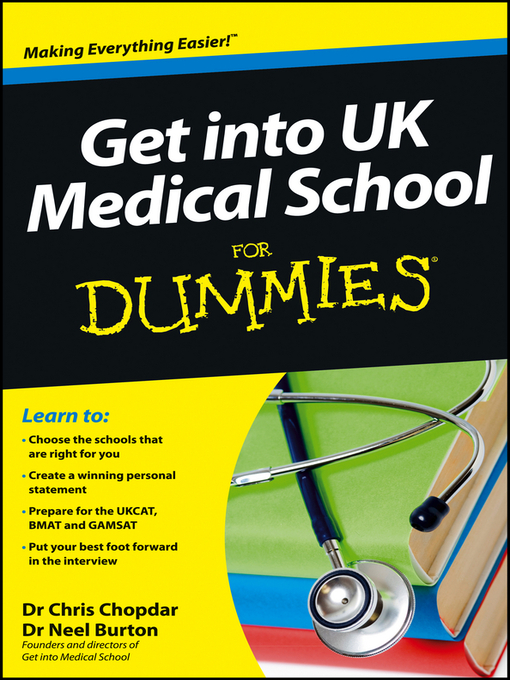 Get into UK Medical School For Dummies (eBook)
