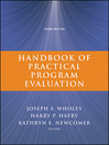 Handbook of Practical Program Evaluation (eBook): Essential Texts for Nonprofit and Public Leadership and Management Series, Book 19