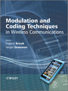 Modulation and Coding Techniques in Wireless Communications (eBook)