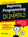 Beginning Programming For Dummies (eBook)