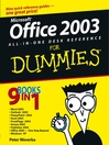 Office2003 All-in-One Desk Reference For Dummies (eBook)