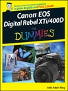 Canon EOS Digital Rebel XTi/400D For Dummies (eBook)