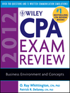 Wiley CPA Exam Review 2012, Business Environment and Concepts (eBook)