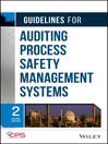 Guidelines for Auditing Process Safety Management Systems (eBook)