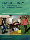 Exercise Therapy in the Management of Musculoskeletal Disorders (eBook)