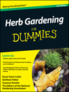 Herb Gardening For Dummies (eBook)